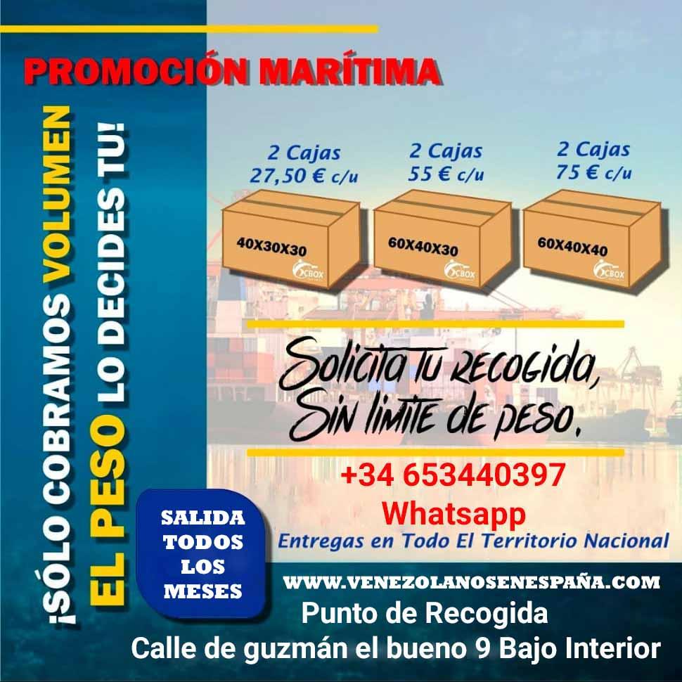 precio envios maritimos a venezuela