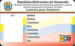 licencia de conducir venezolana